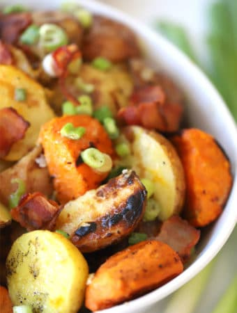 grilled potato salad with bacon