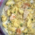 Creamy Garlic Chicken Alfredo Tortellini, a one pot meal