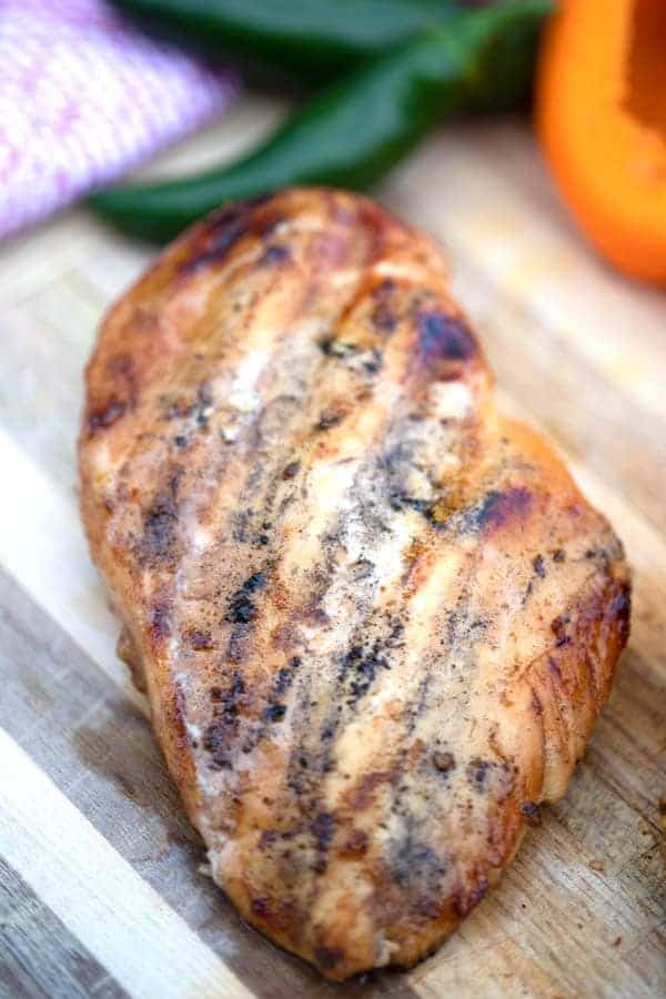 southwest chicken breast closeup
