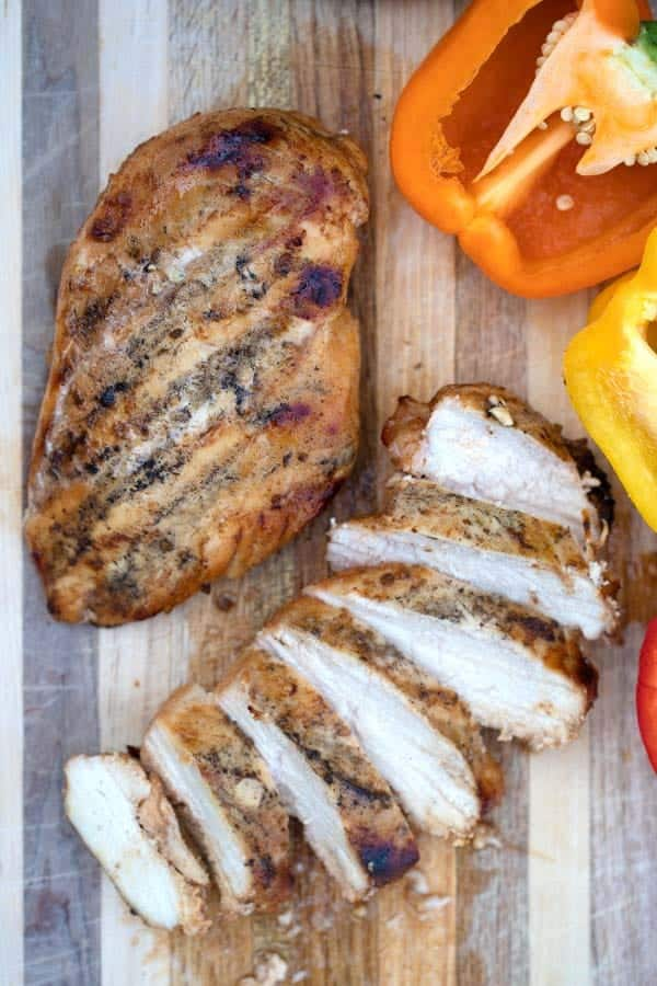 southwest grilled chicken breast whole and sliced
