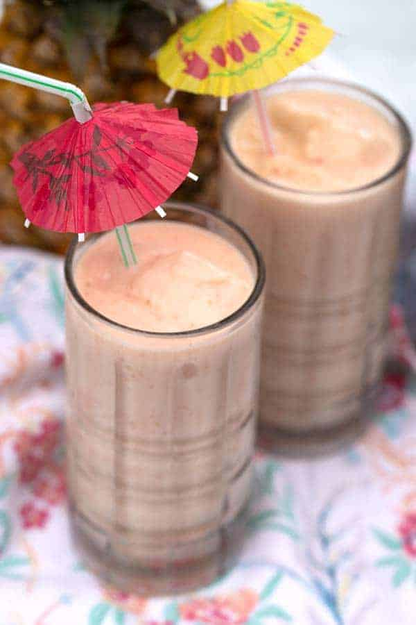 Homemade smoothies--Strawberry Pina Colada Smoothie