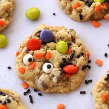 Halloween cookies-Monster cookie recipe