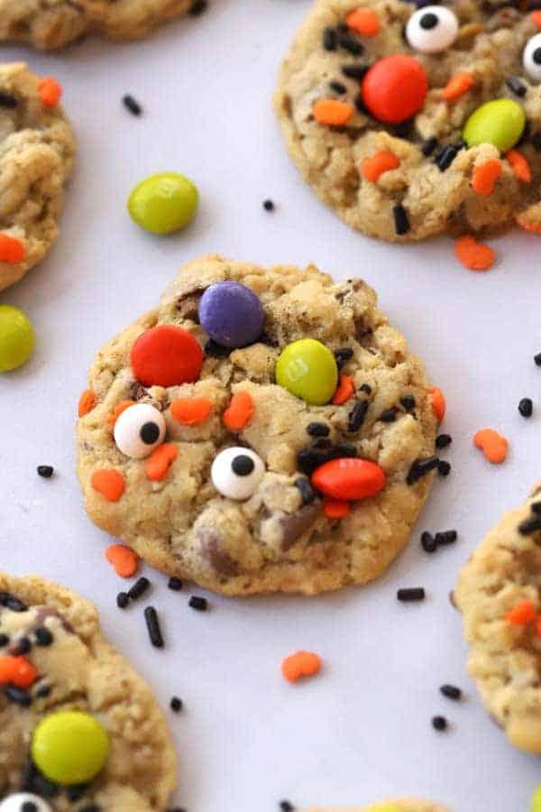 Halloween cookies-Monster cookie recipe