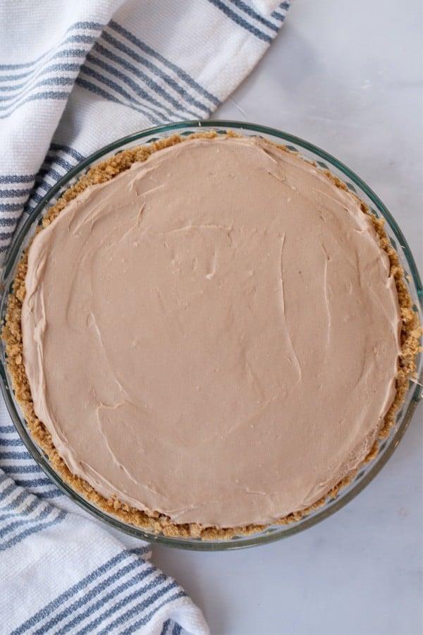 chocolate cheesecake with graham cracker crust