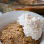 Baked pumpkin rice pudding