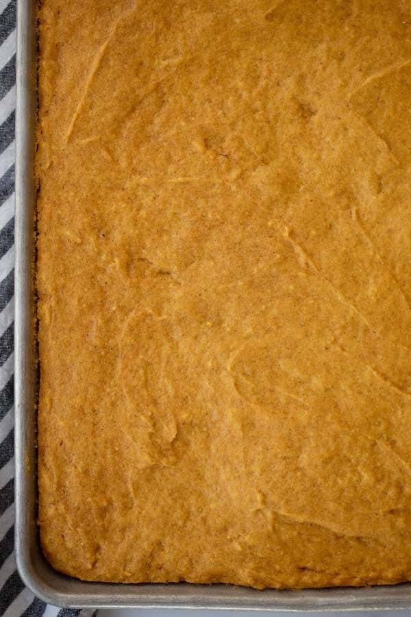 cakey pumpkin bars recipe