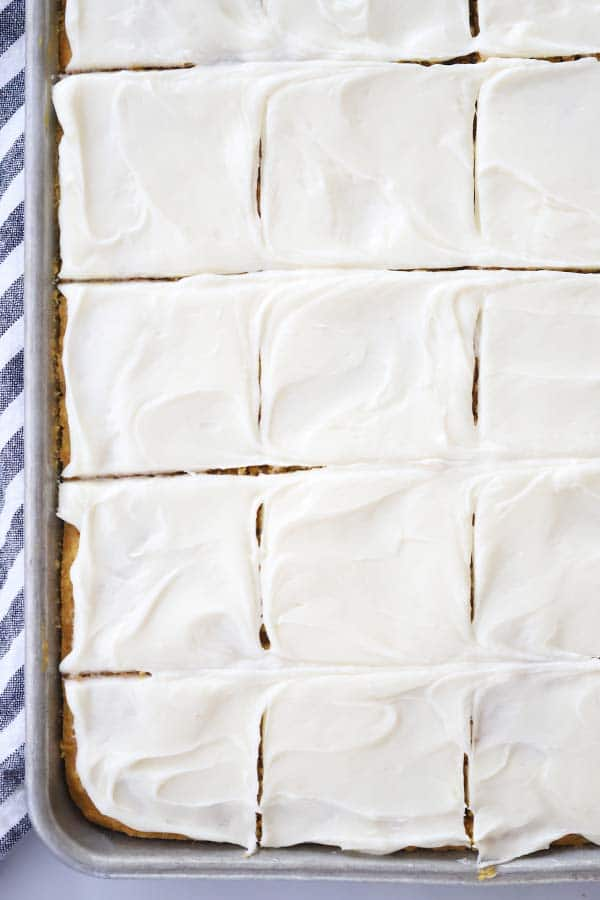 fluffy pumpkin bars with cream cheese frosting