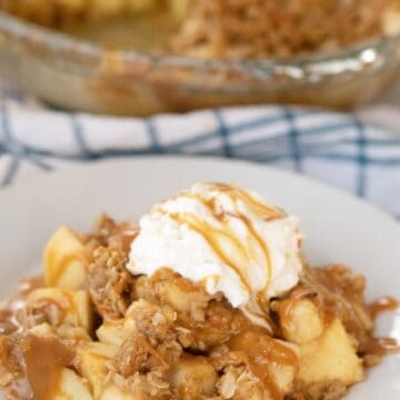Caramel Apple Crisp with Oat Topping recipe