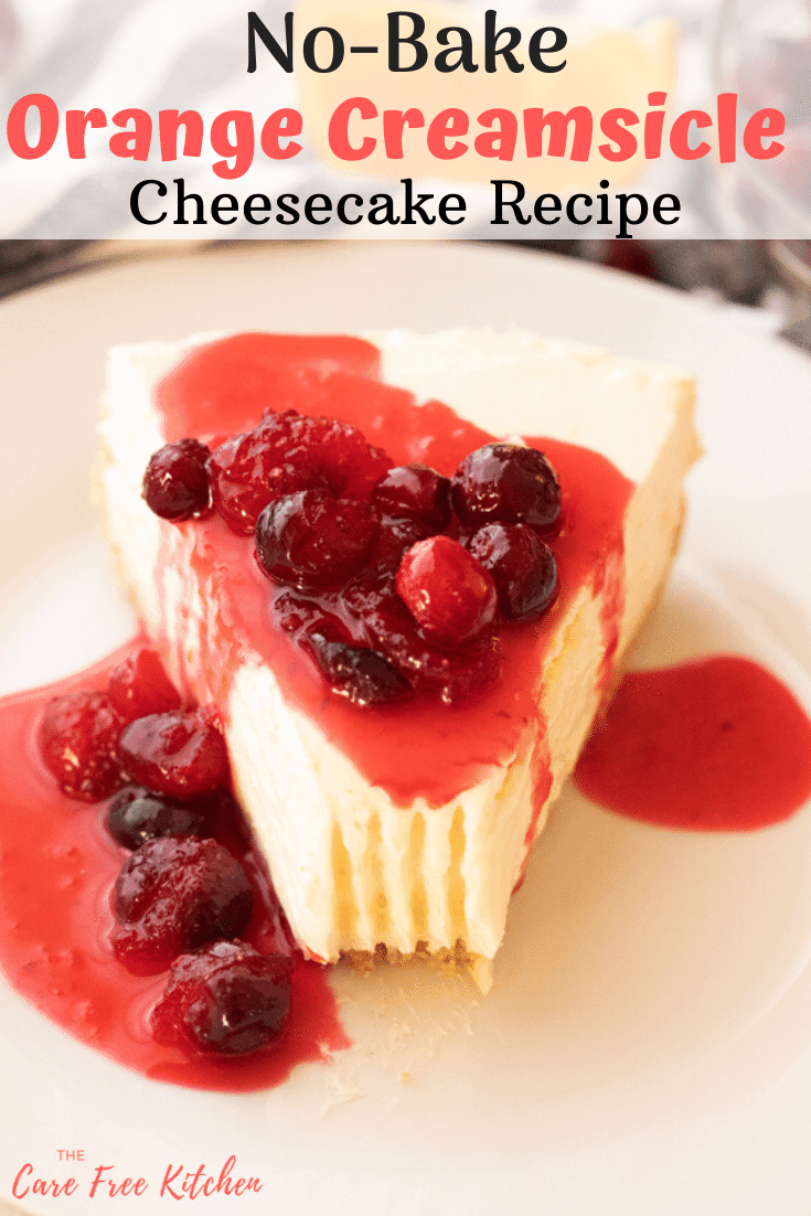 orange creamsicle cheesecake recipe with cranberry orange sauce