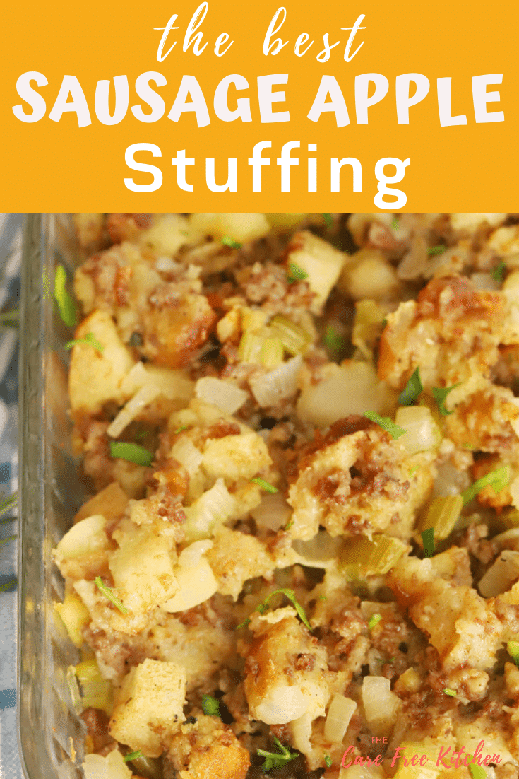pinterest pin for stuffing by the carefree kitchen