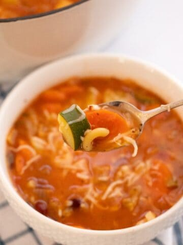 best minestrone soup in a bowl