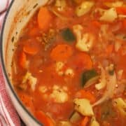 Skinny vegetale soup