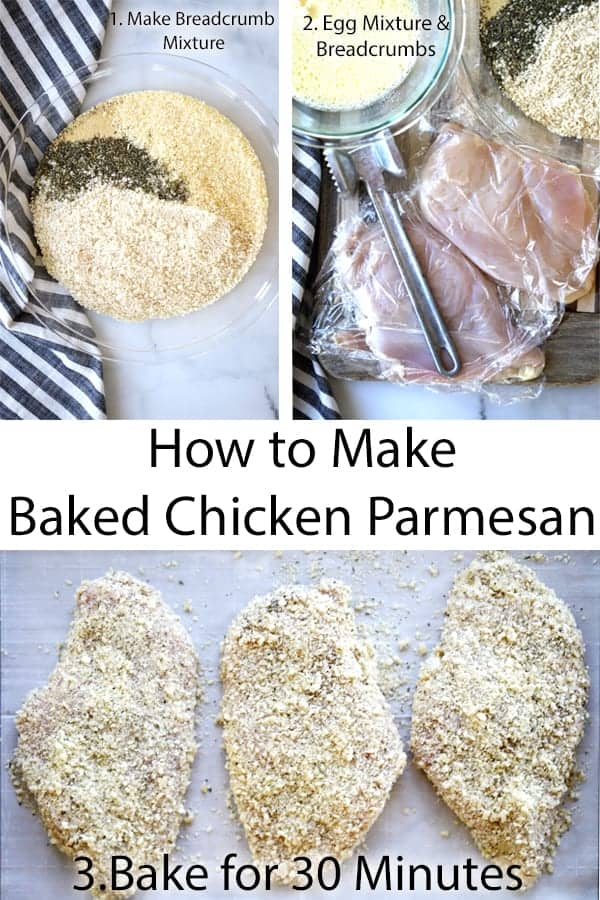 oven baked chicken parmesan with panko crust