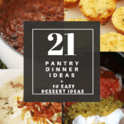 pantry Dinner Ideas