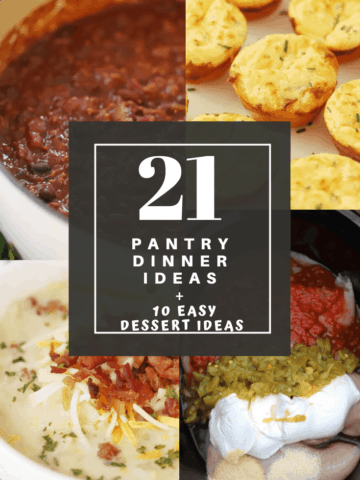 pantry Dinner Ideas