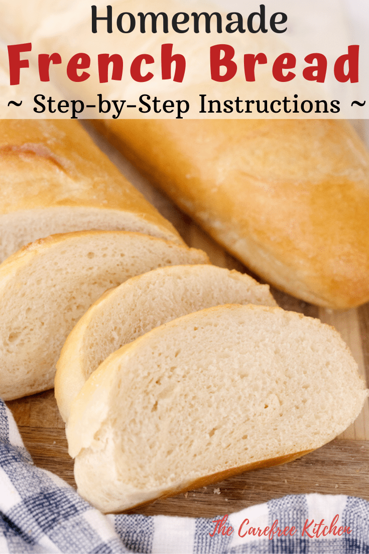 pinterest pin for Classic French Bread