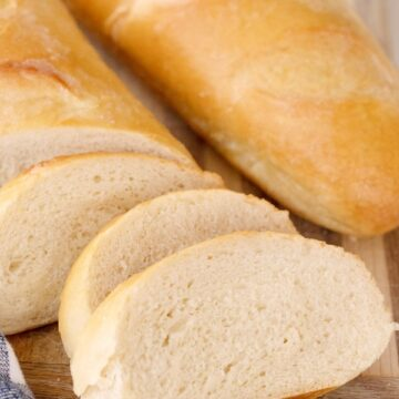 Homemade French Bread on a cutting board