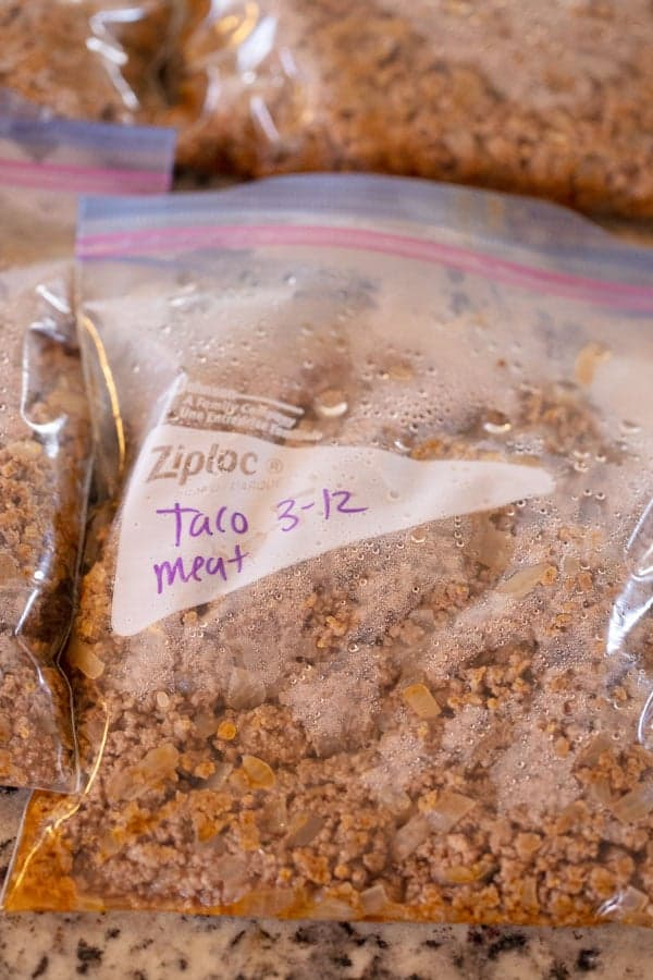 make ahead taco meat in freezer bag