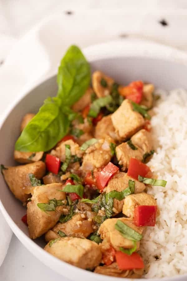 Thai Basil Chicken Stir fry