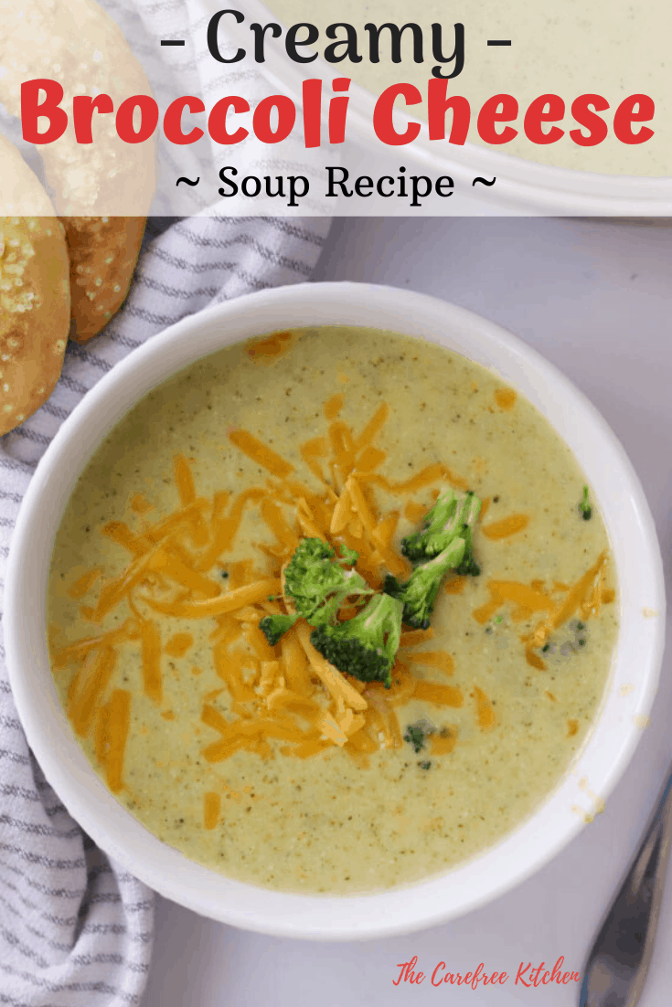 pinterest pin for broccoli cheese soup