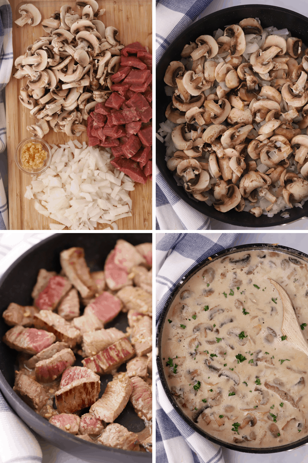 Step by step how to make the best beef stroganoff