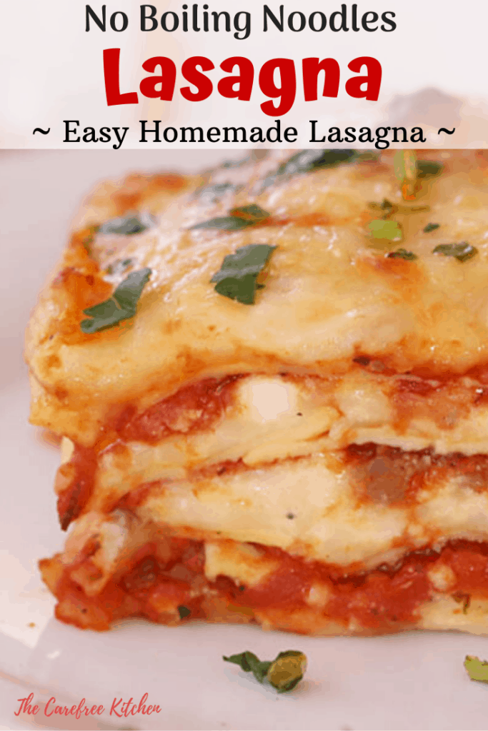Pinterest pin for lasagna