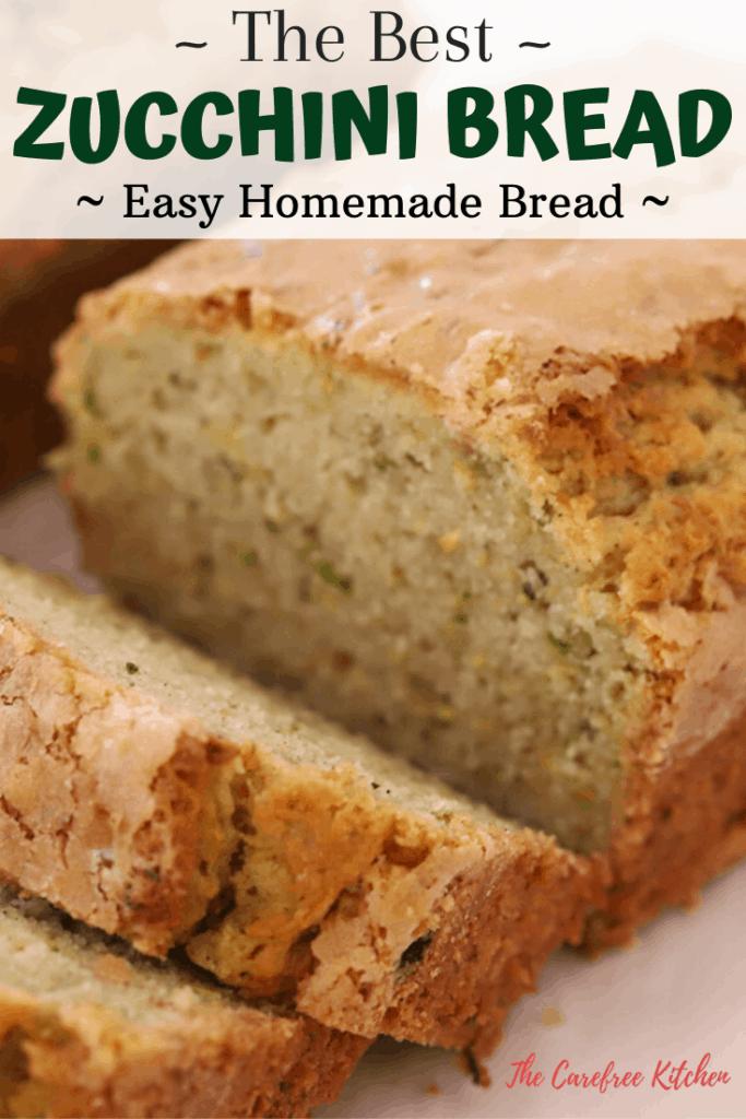 pinterest pin for zucchini bread