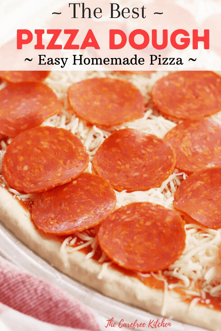 pinterest pin for homemade pizza dough