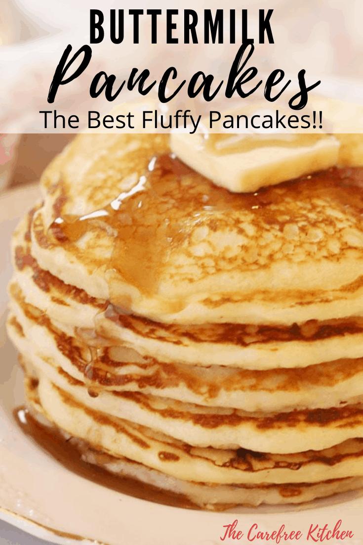 pinterest pin for buttermilk pancakes