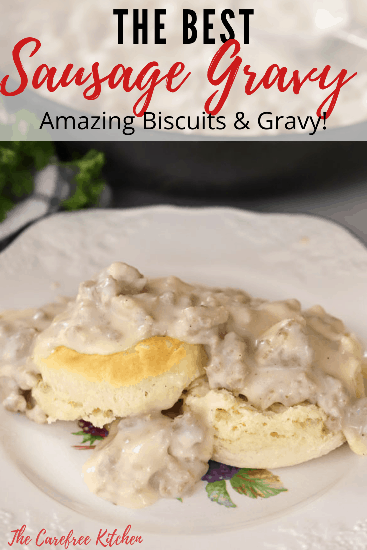 Pinterest pin for Sausage Gravy.