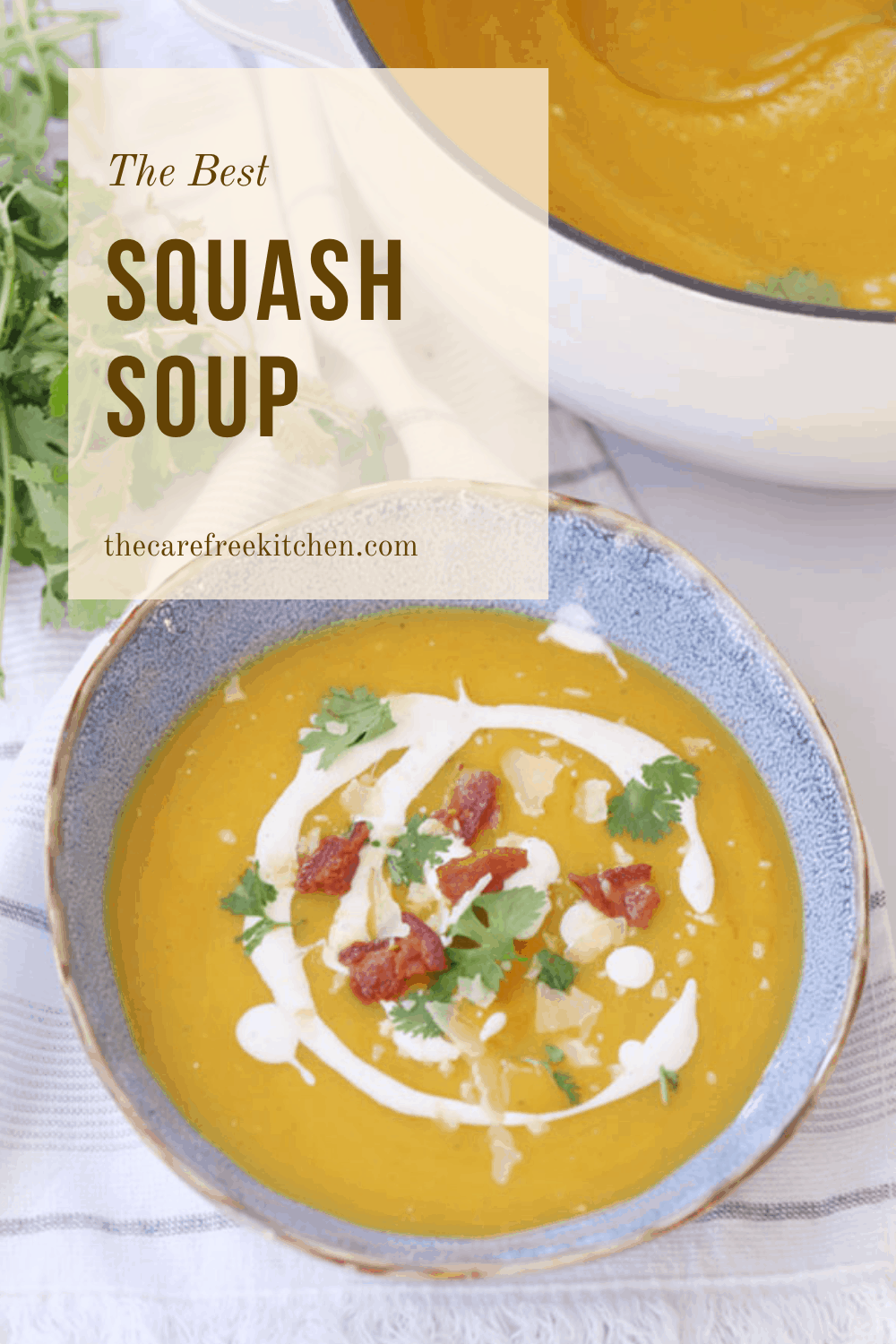 pinterest pin for roasted acorn squash soup