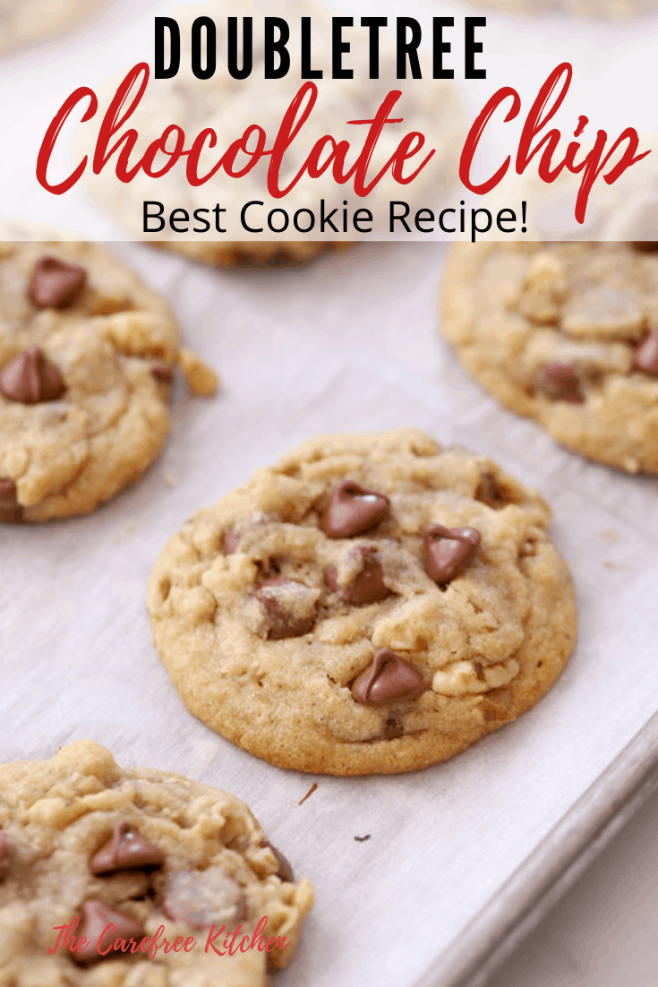 pinterest pin for doubletree chocolate chip cookies