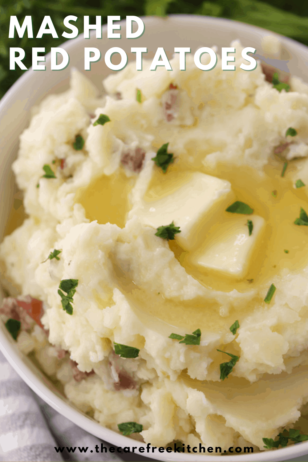 pintrest pin for mashed red potatoes