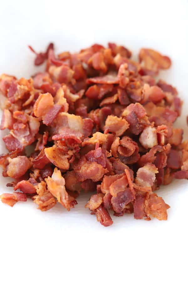 Homemade bacon bits.