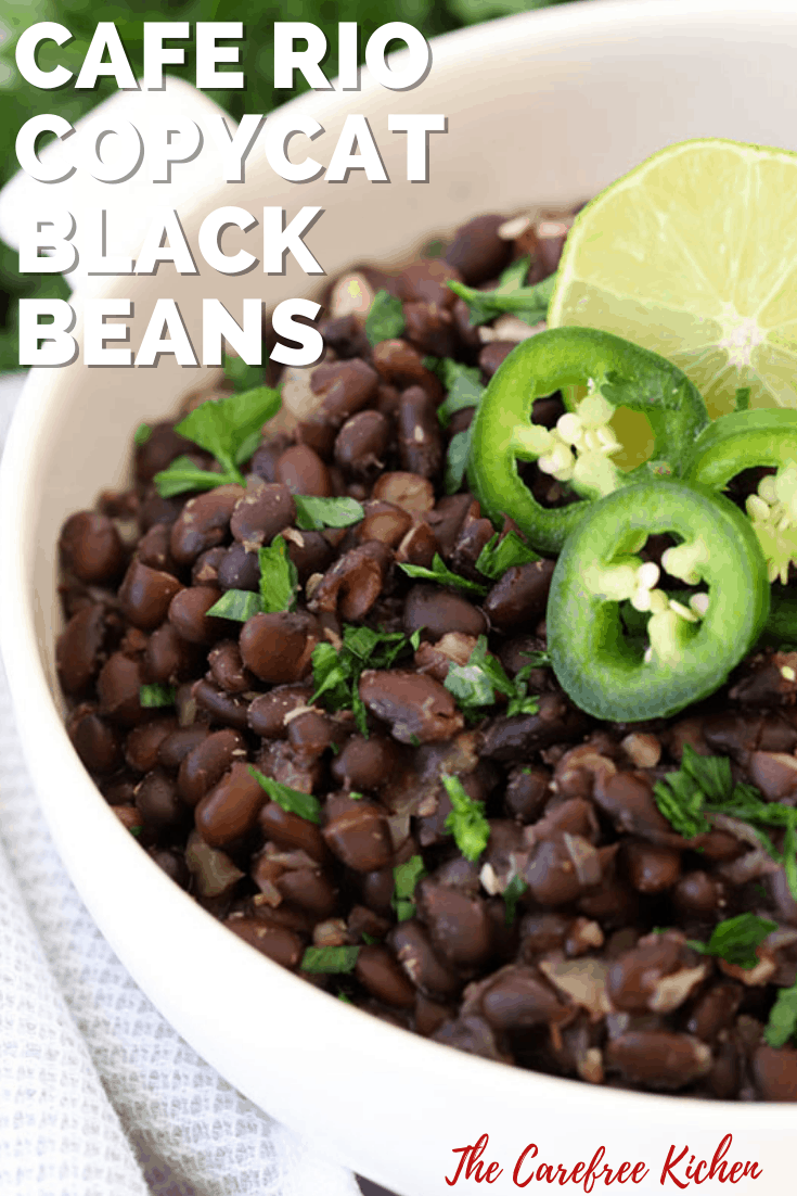 Pinterest pin for Chipotle Black Beans.