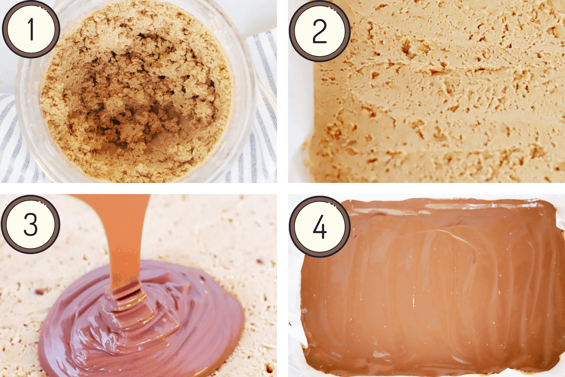 Process pictures of peanut butter cups
