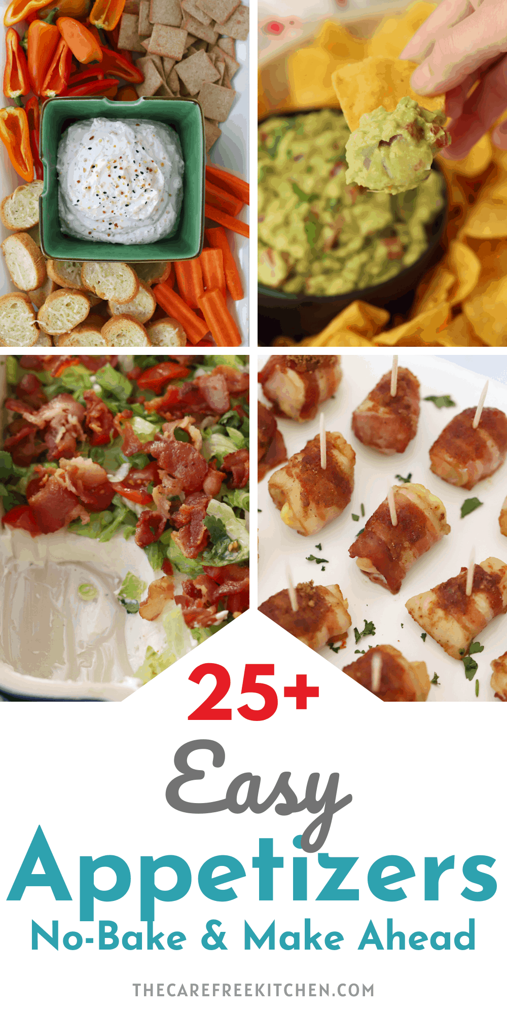 pinterest pin for 25+ appetizer recipes