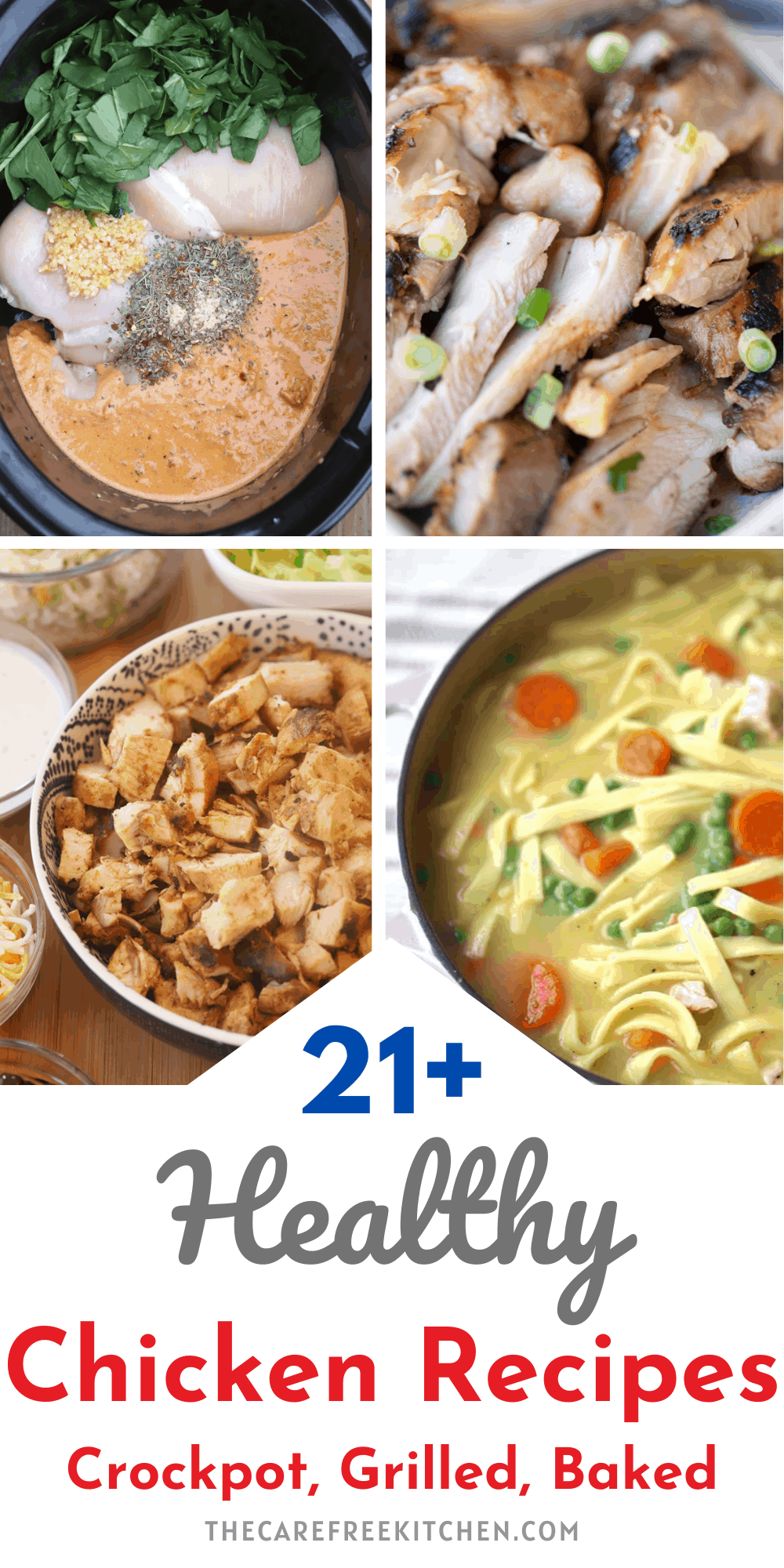 pinterest pin for healthy chicken recipes