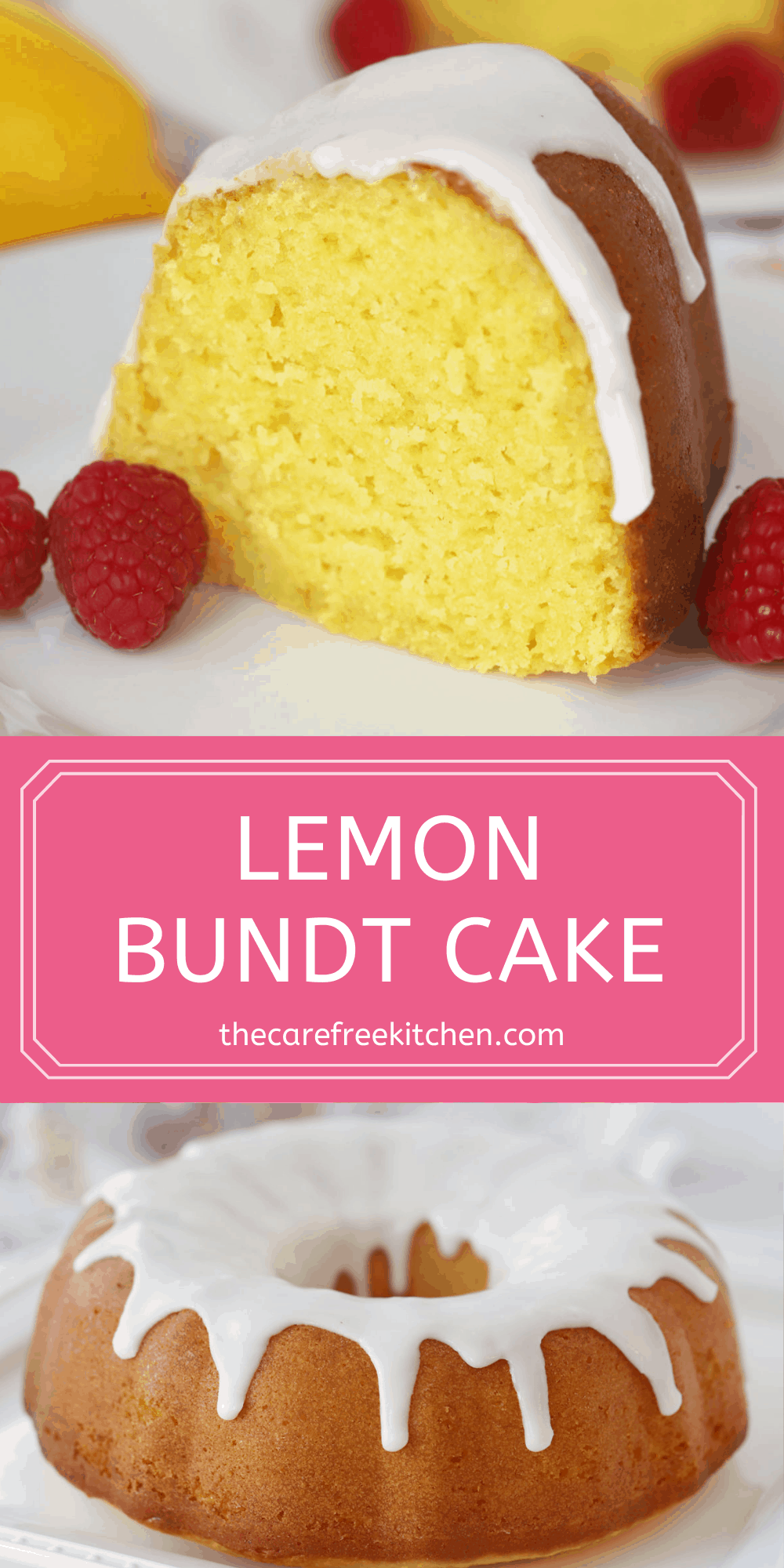 Pinterest pin for lemon bundt cake recipe