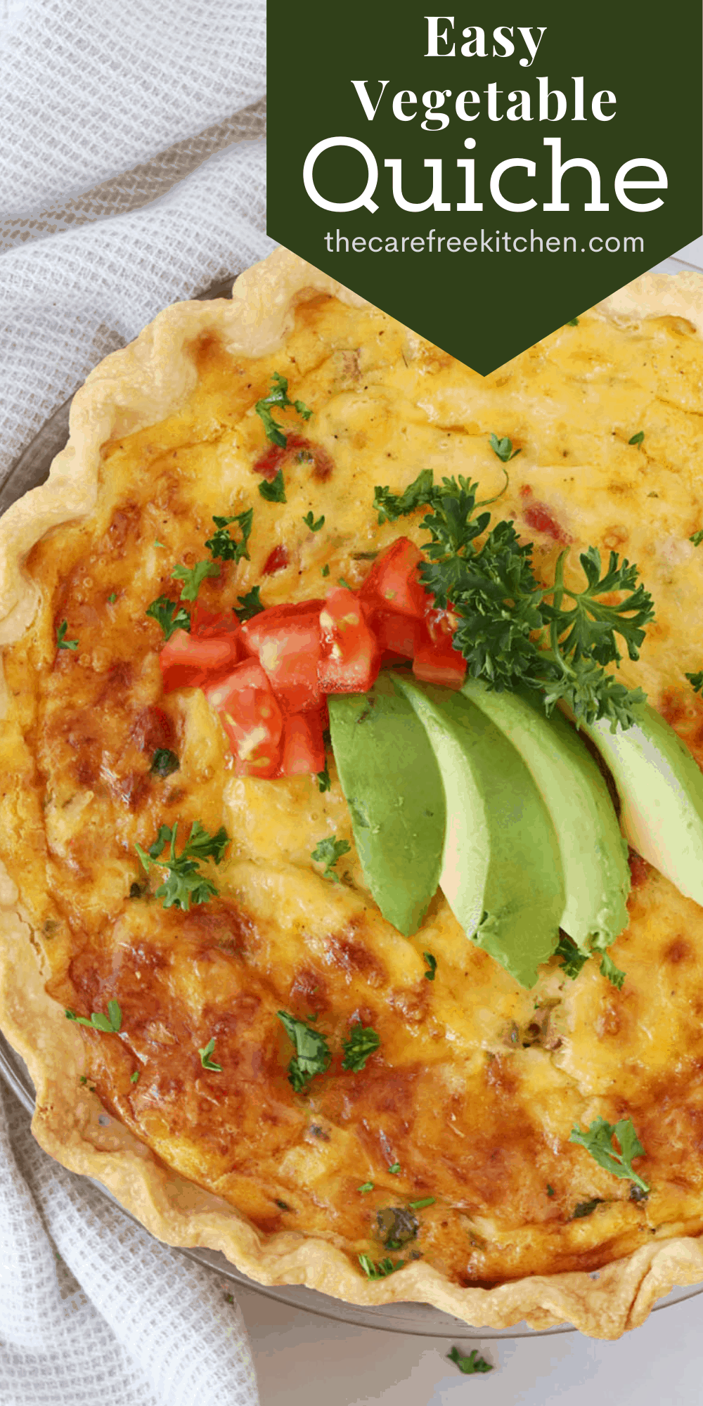 Pinterest pin for Vegetable Quiche