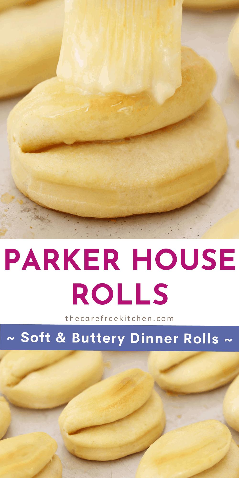 Pinterest pin for parker house rolls