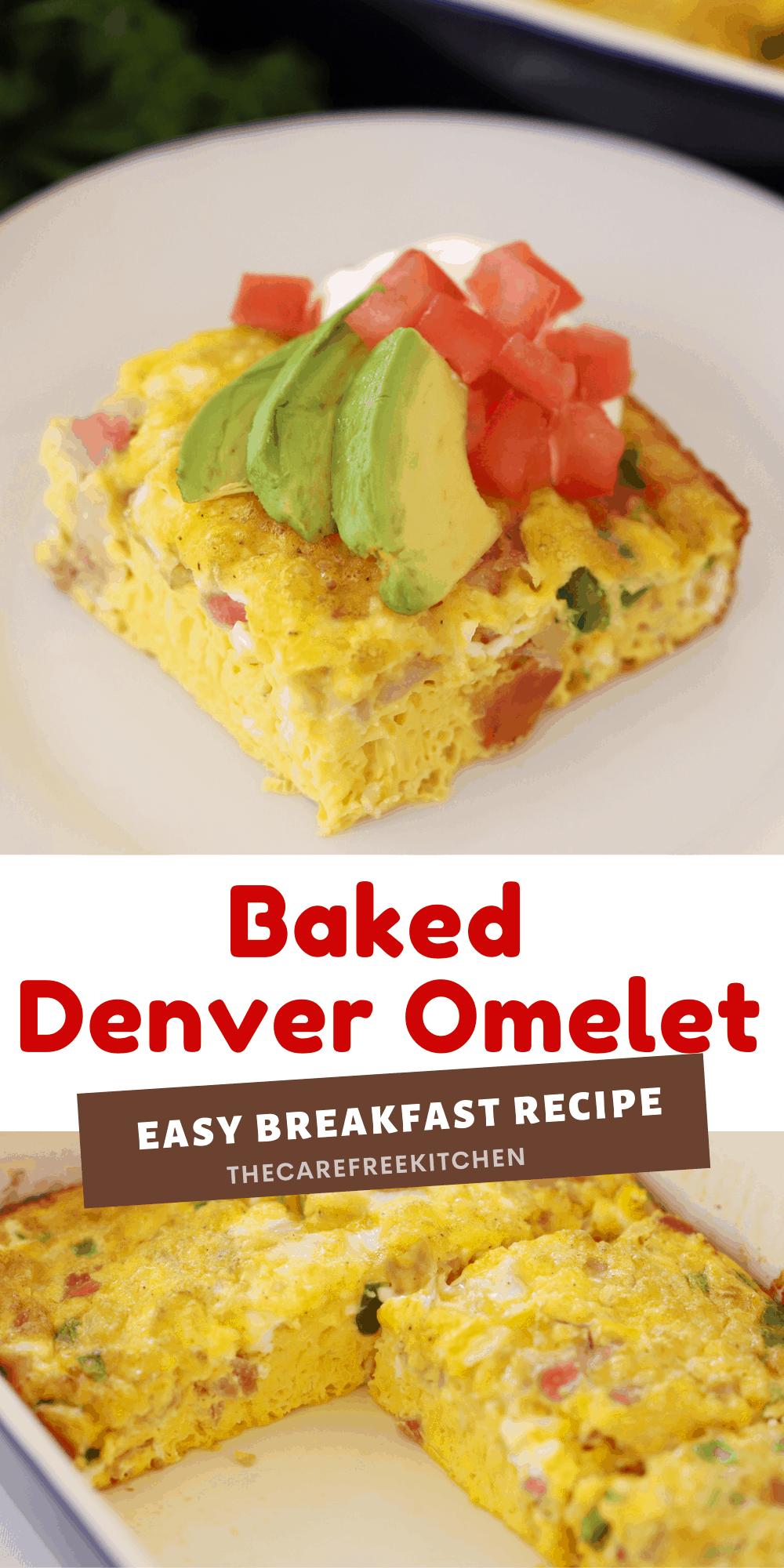 Pinterest Pin for Baked Denver Omelet