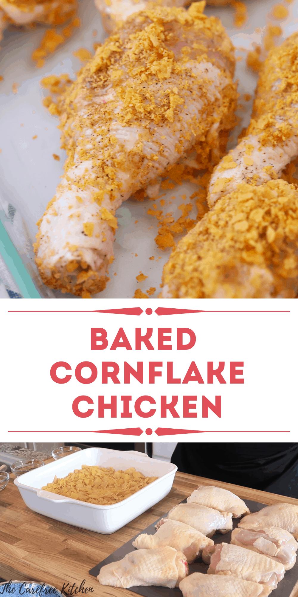 pinterest pin for cornflake chicken