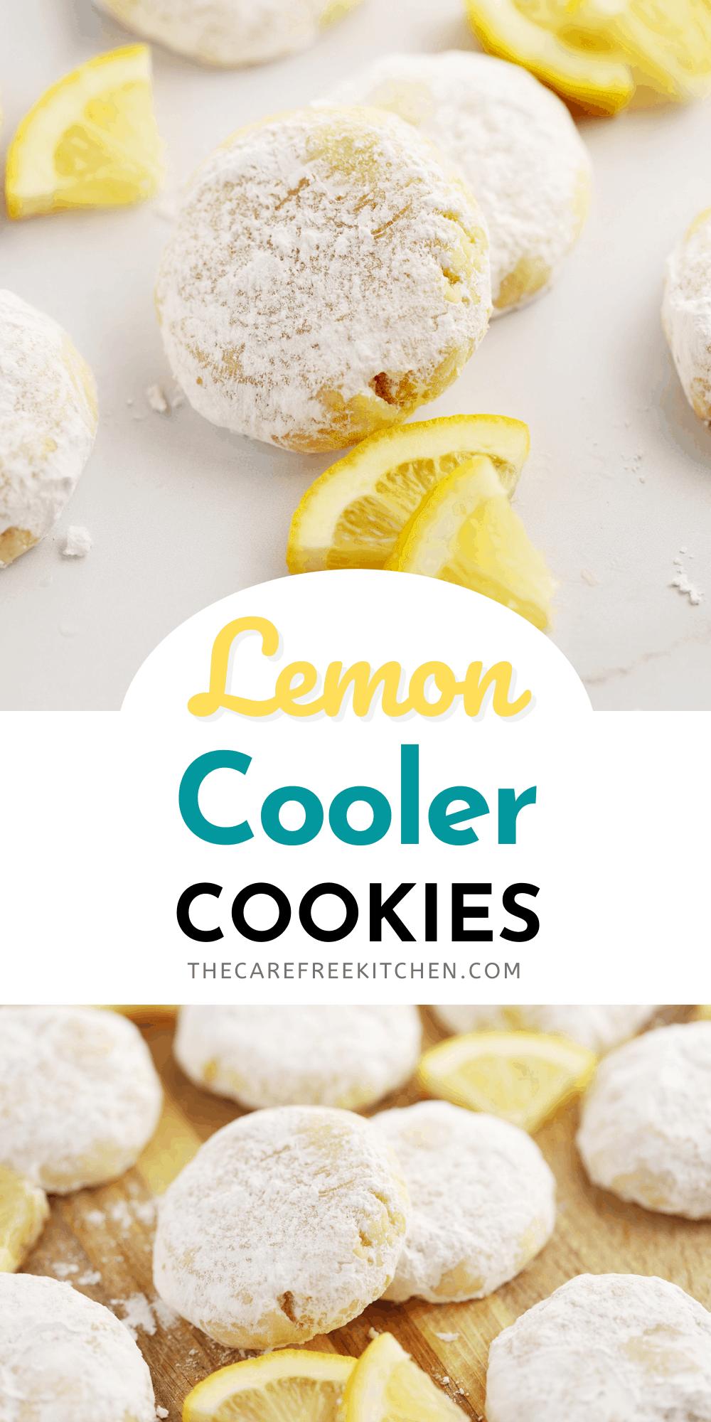 Pinterest pin for Lemon Cooler Cookies