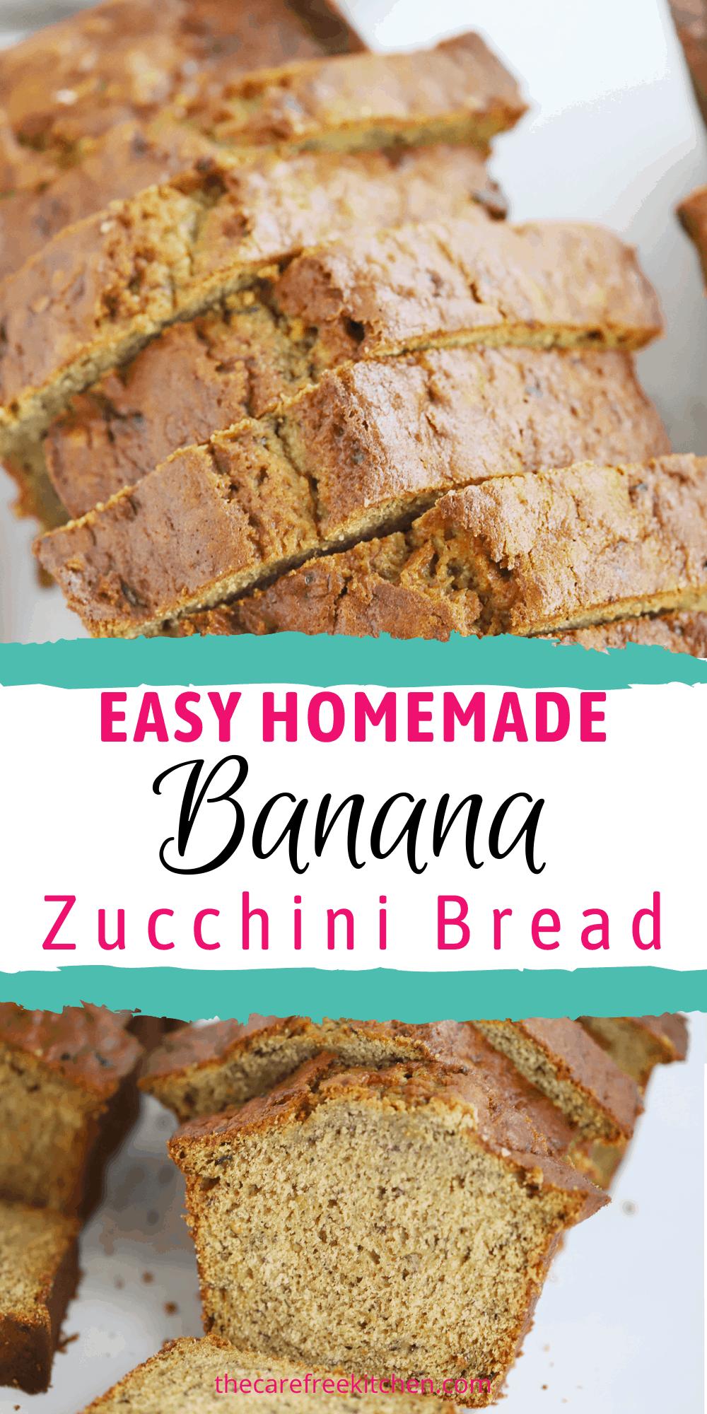 Pinterest pin for Zucchini Banana Bread