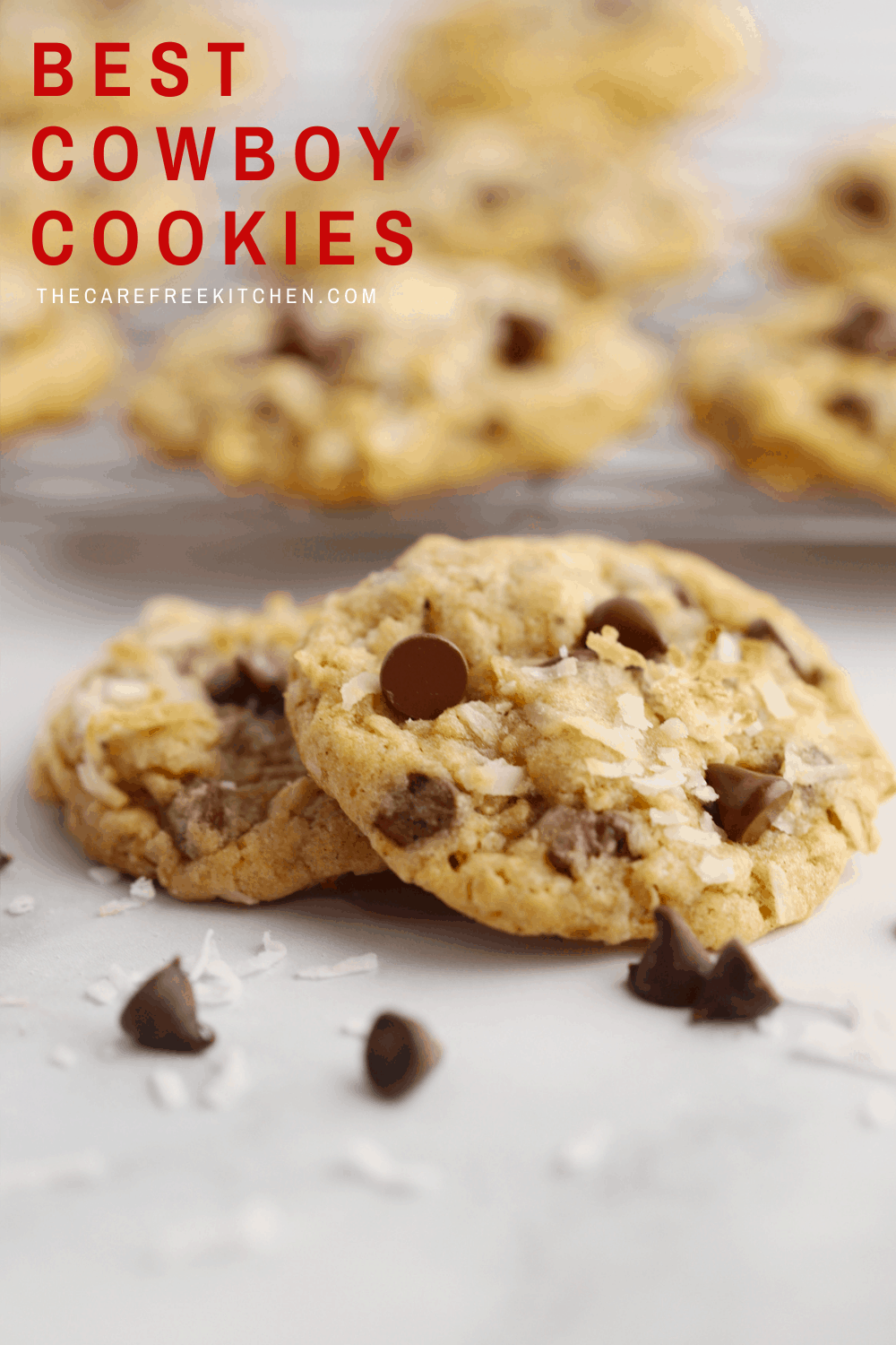 Pinterest pin for Cowboy Cookies