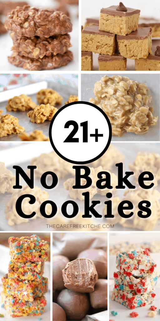 pinterest pin for no bake cookies collection
