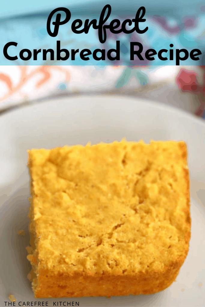 pinterest pin for homemade cornbread