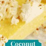 Pinterest pin for coconut cream pie