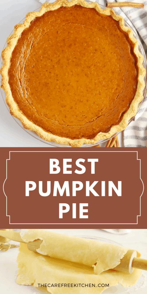 pinterest pin for pumpkin pie